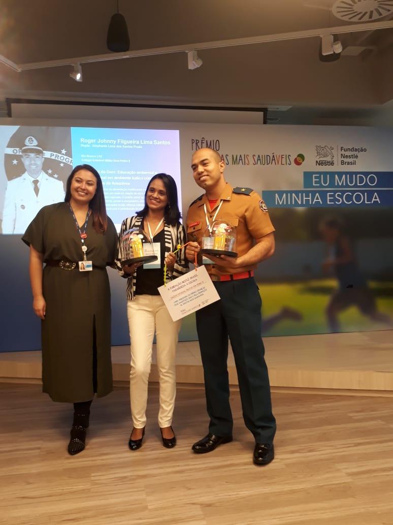 Colégio Dom Pedro II recebe premiação do concurso Crianças mais Saudáveis