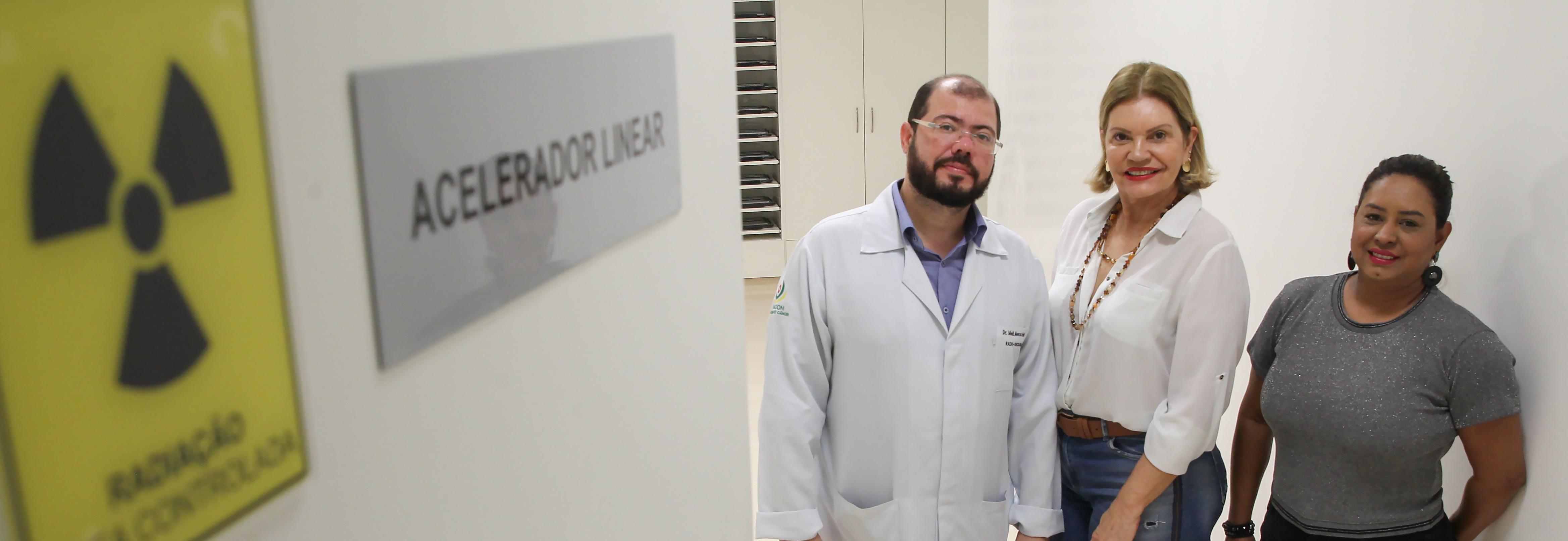 Saúde desmonta máquina de radioterapia desativada para pleitear novo equipamento para a Unacon