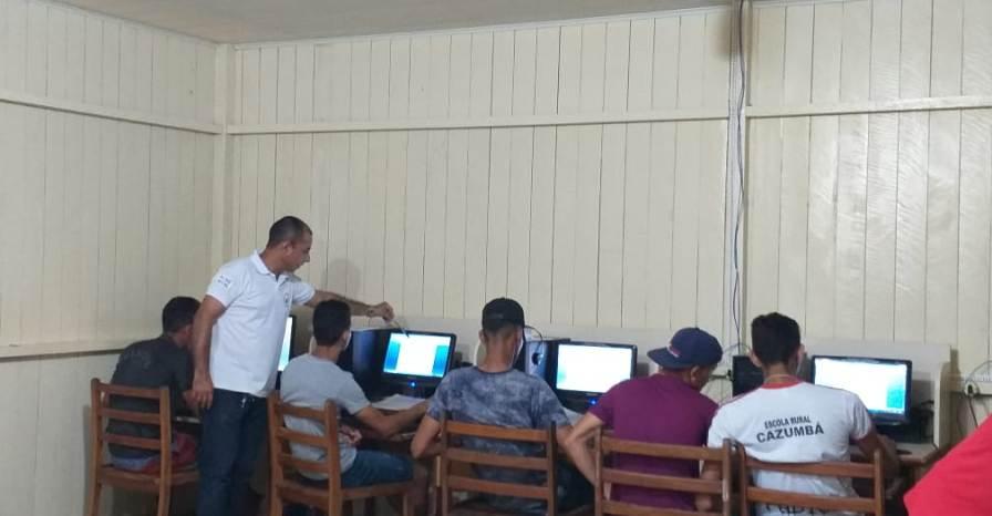 Informática básica é ofertada aos alunos da Reserva Cazumbá