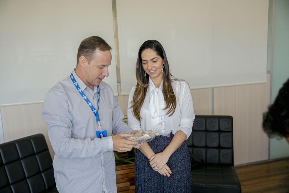 Primeira-dama visita o Sebrae em busca de parcerias para a Escola de Gastronomia