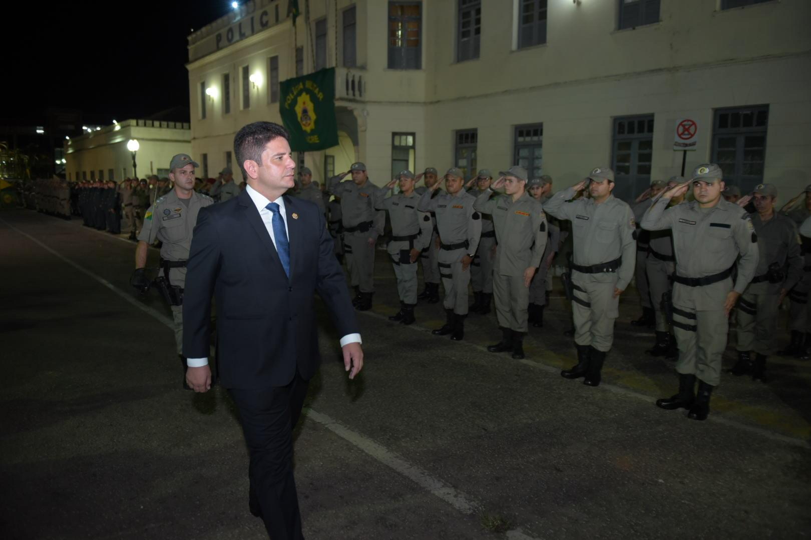 """""""A Segurança Pública viverá um novo momento"""", afirma Gladson Cameli durante promoção de militares"""