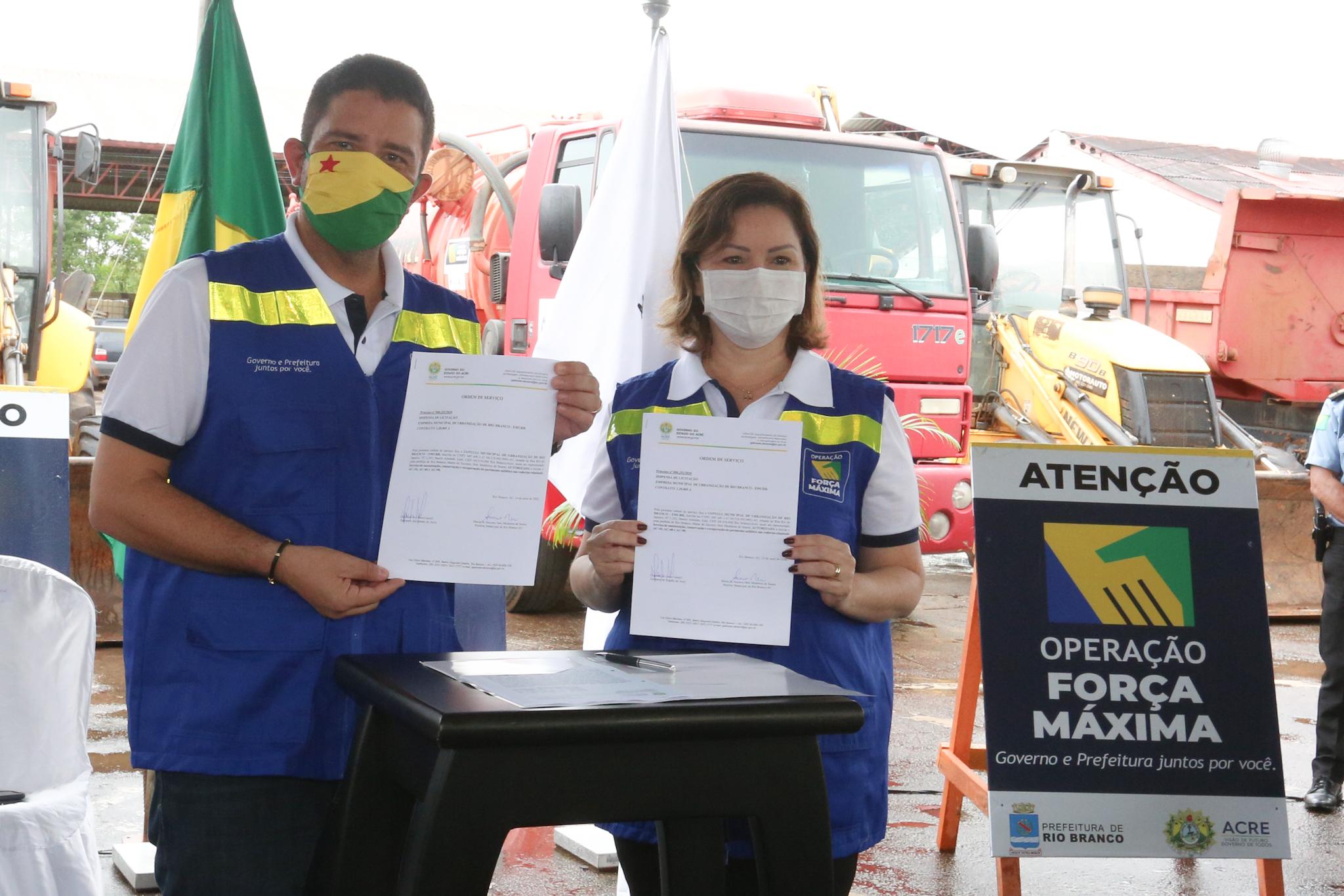 Governo e prefeitura lançam operação Força Máxima para recuperação e manutenção de rodovias