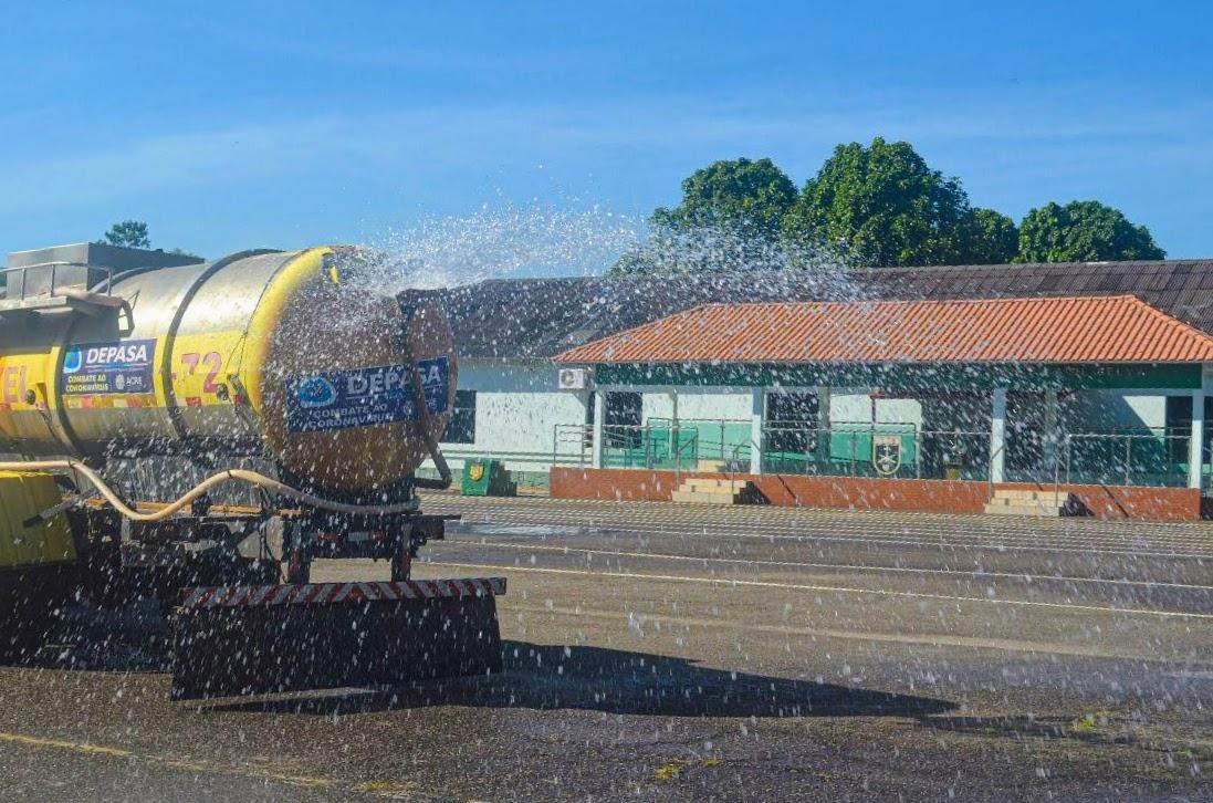Parceria entre Depasa e Exército garante tratamento de água em Santa Rosa e ações de combate ao coronavírus