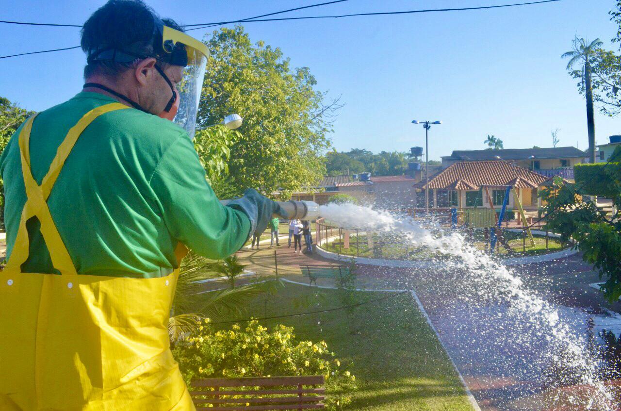 Governo realiza desinfecção nos municípios do Alto Acre