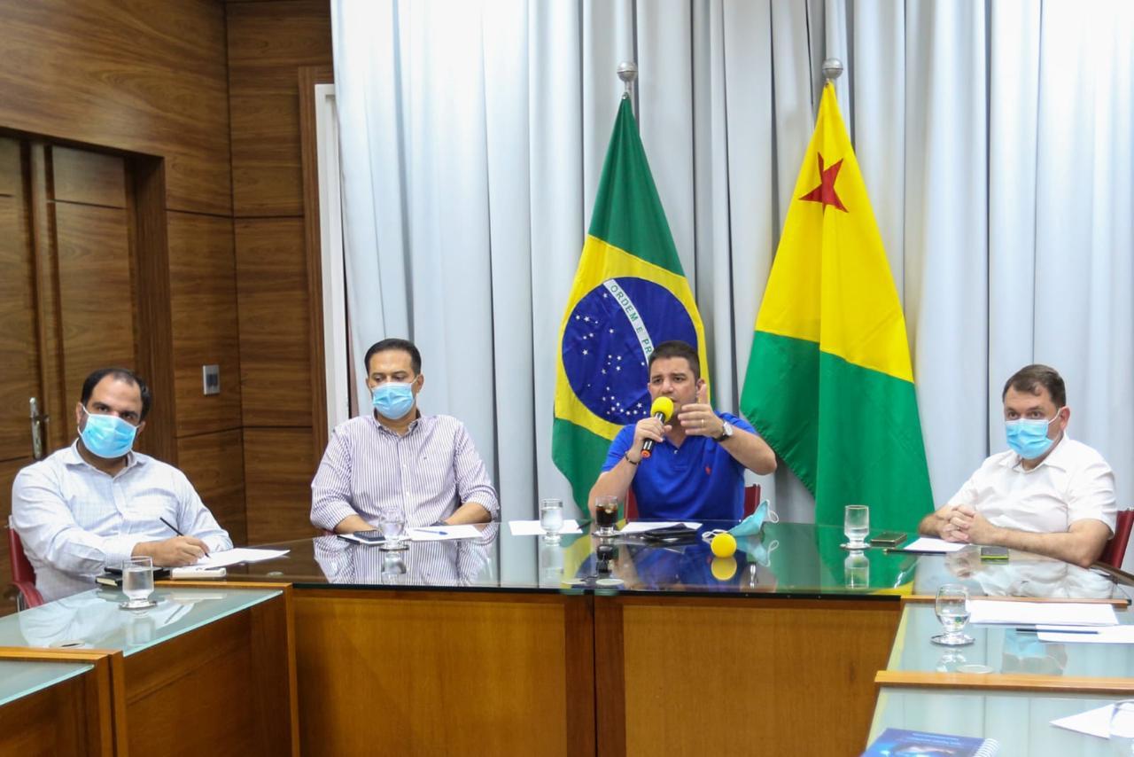 Gladson Cameli pede apoio a órgãos de controle para fortalecer transparência durante pandemia