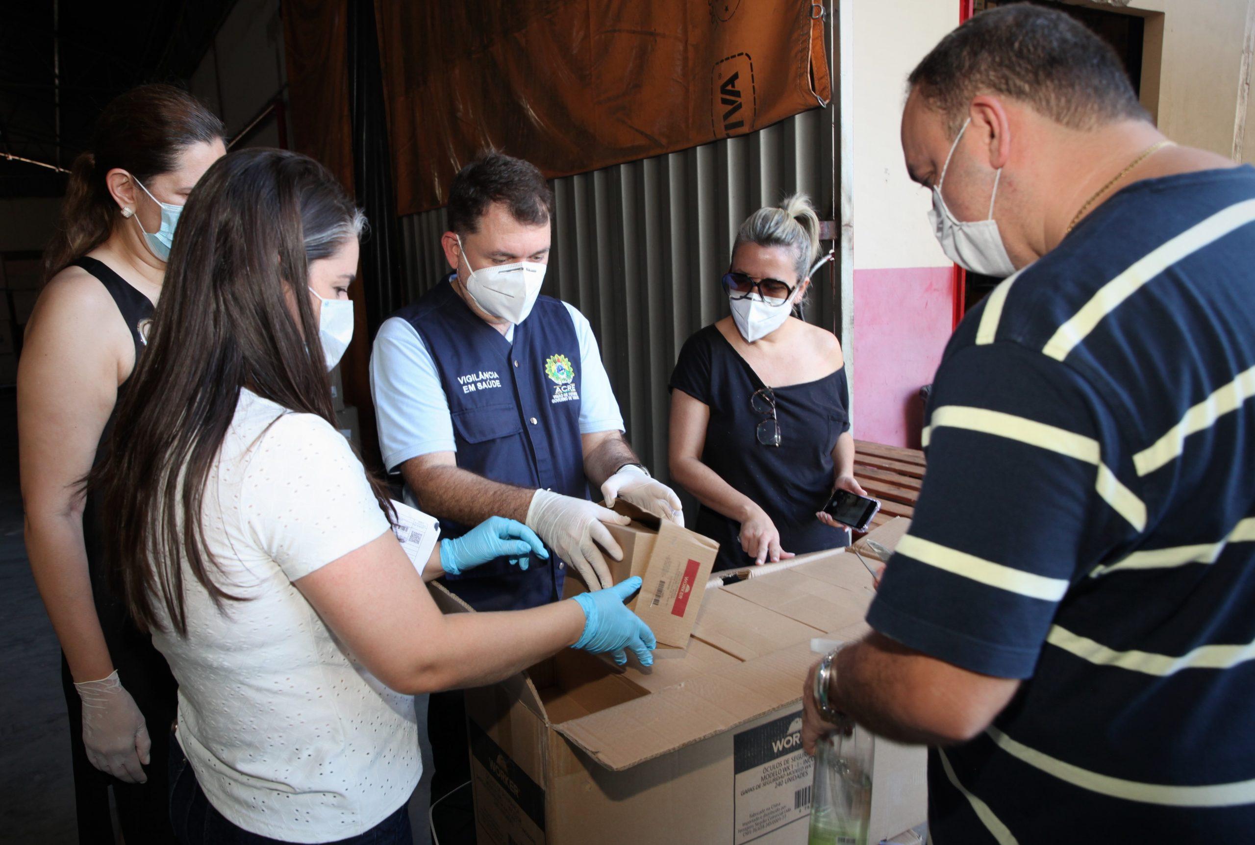 Acre recebe remessa de EPIs do projeto Todos pela Saúde