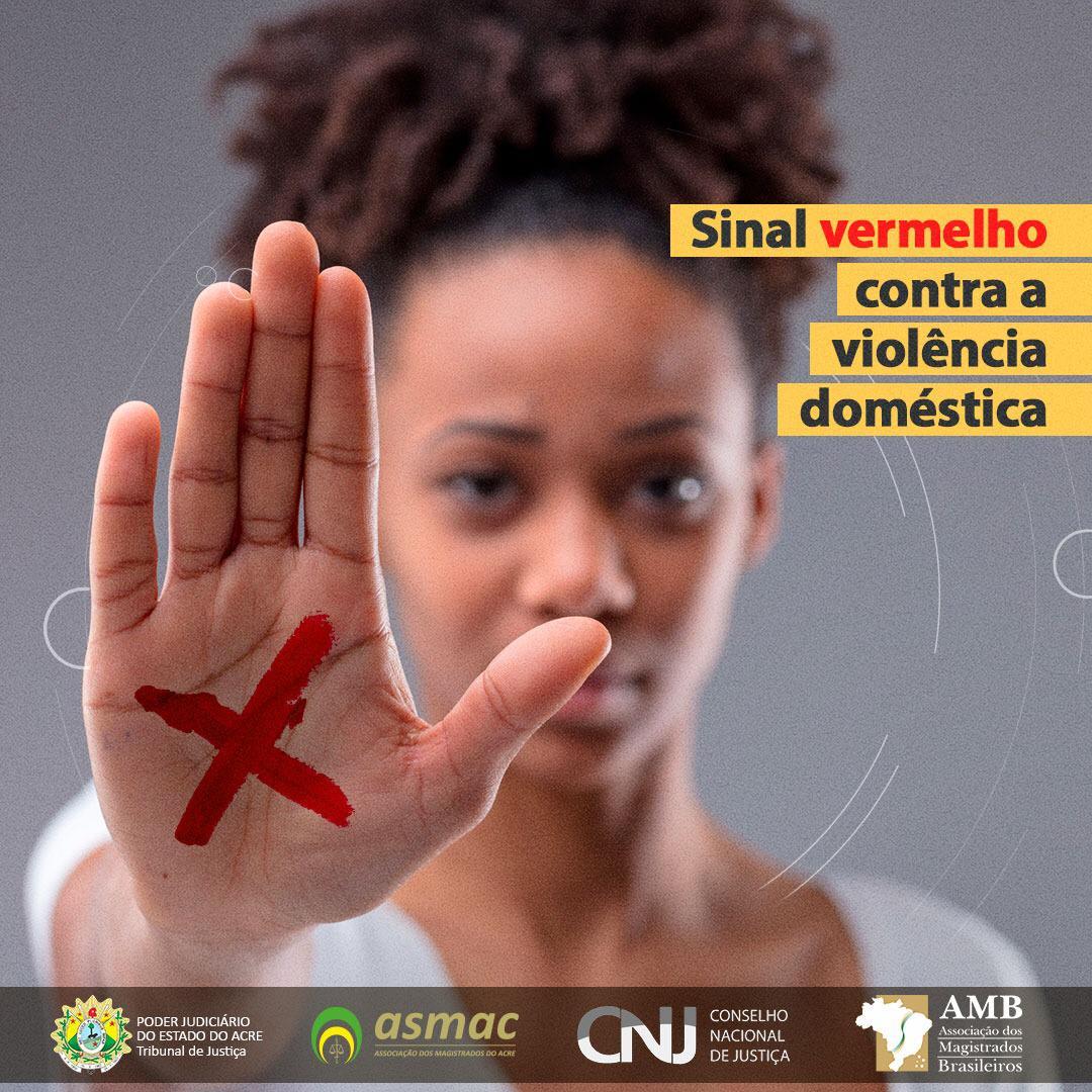 Campanha Sinal Vermelho contra Violência Doméstica ajuda vítimas durante pandemia
