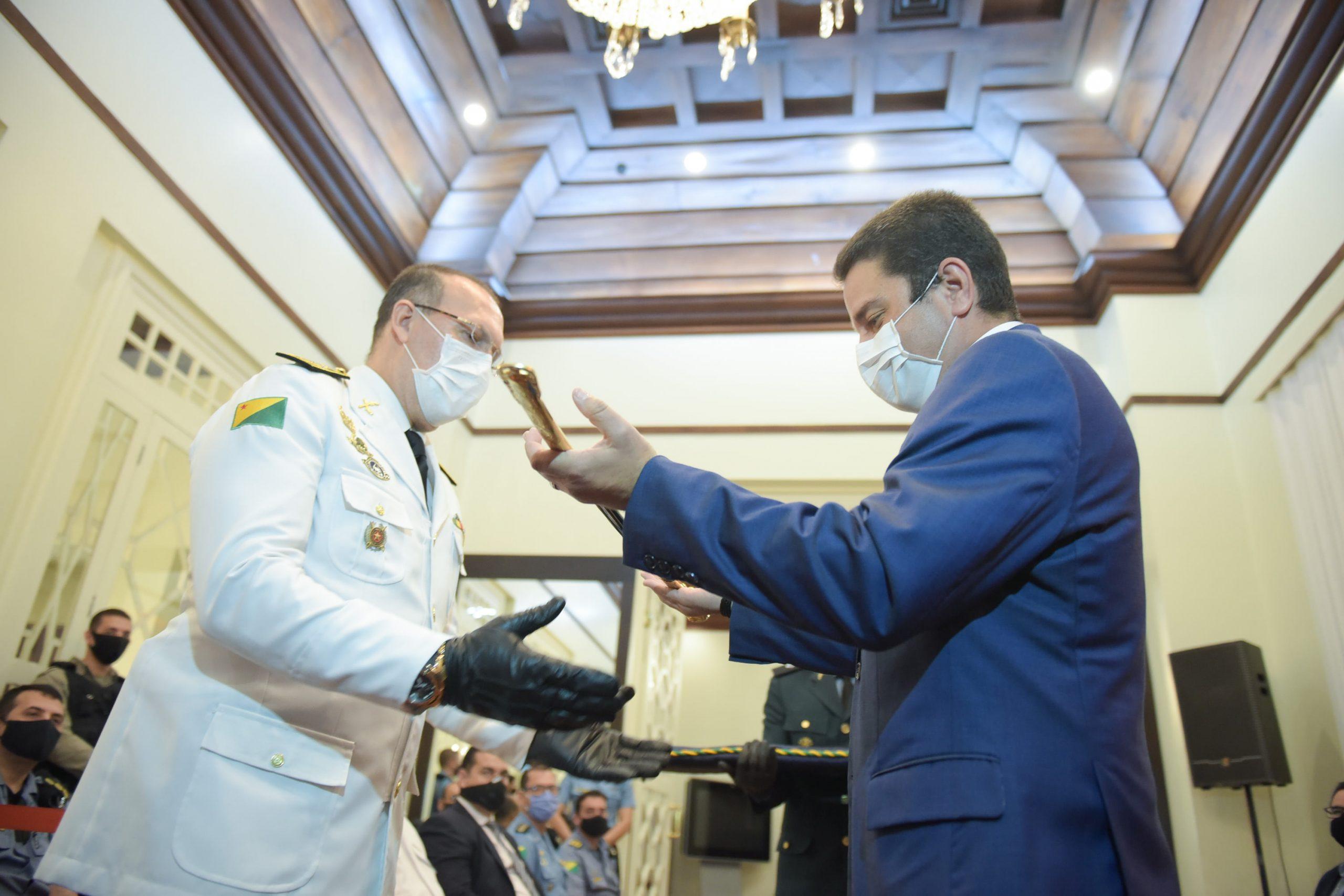 Governador Gladson Cameli dá posse ao novo comandante da Polícia Militar