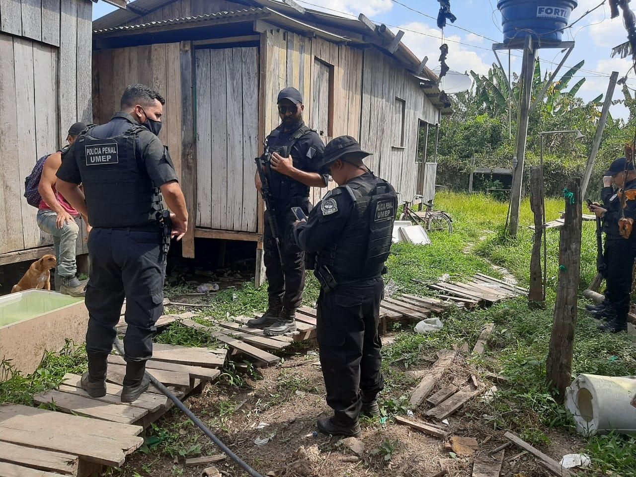 Polícias Penal e Militar fiscalizam presos monitorados no interior do estado