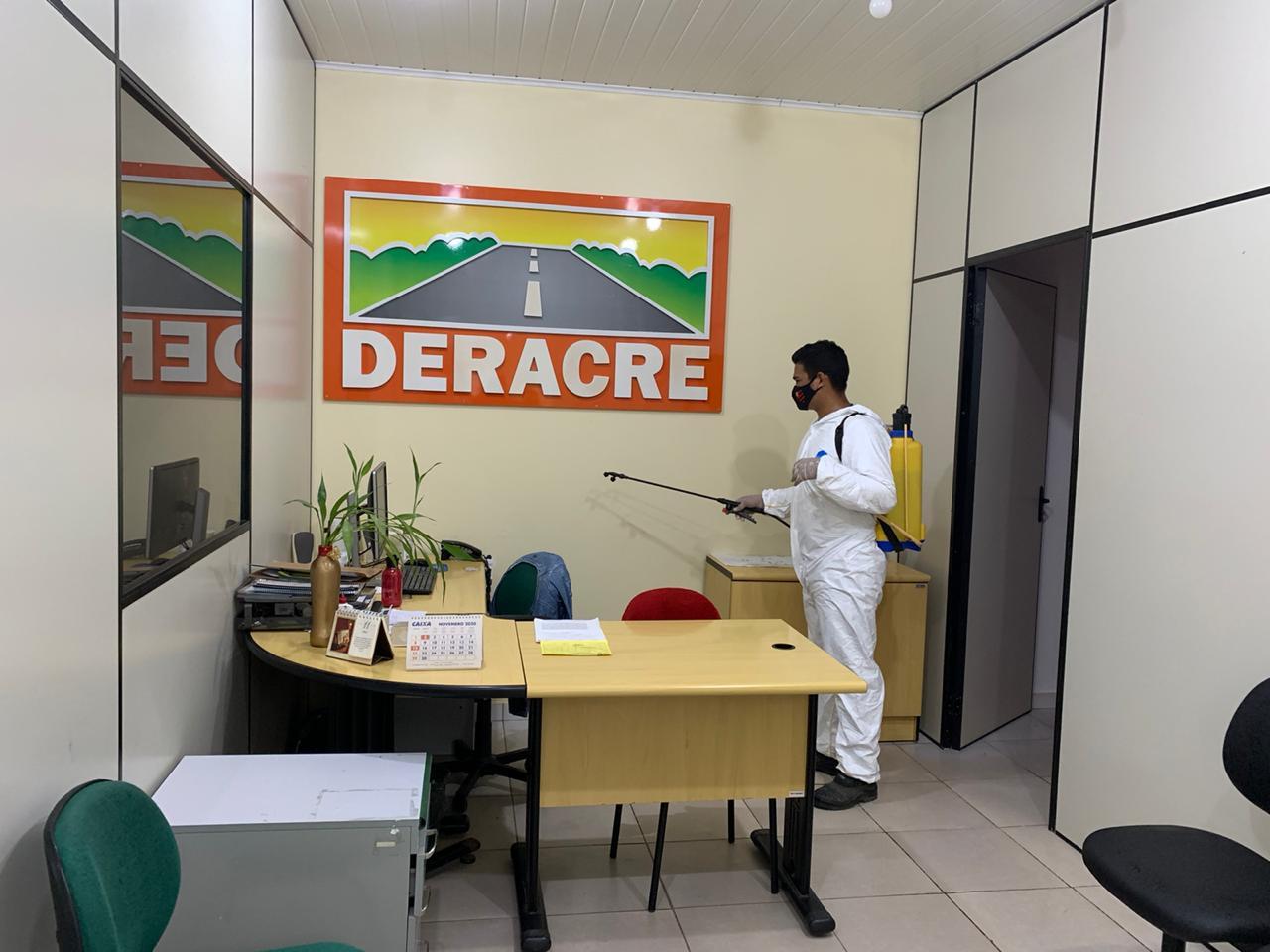 Órgãos públicos do Estado passam por desinfecção para combate à Covid-19