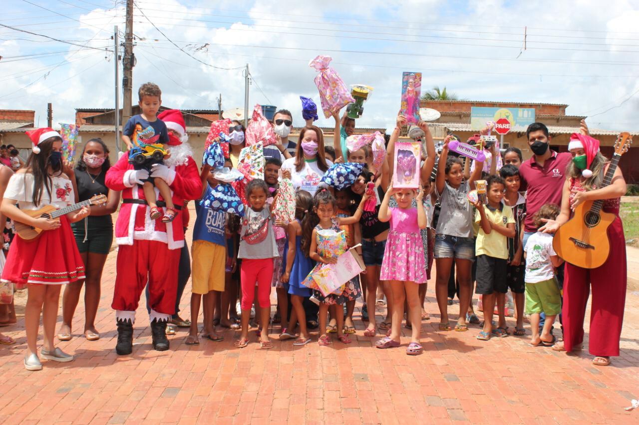 Campanha Faça uma Criança Sorrir no Natal leva alegria a crianças em situação de vulnerabilidade social