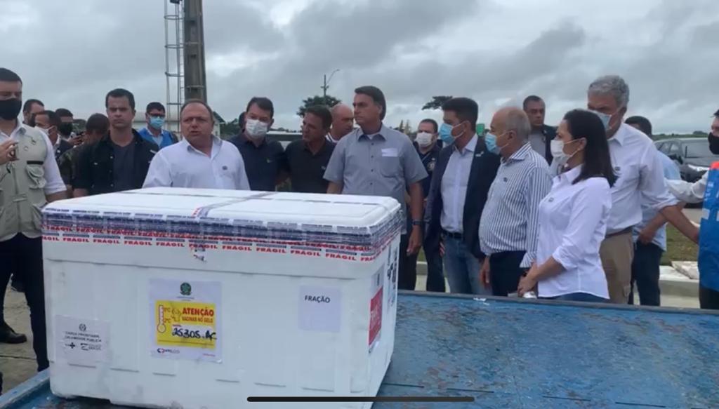 Presidente Jair Bolsonaro chega ao Acre com novas doses de vacina |  Notícias do Acre