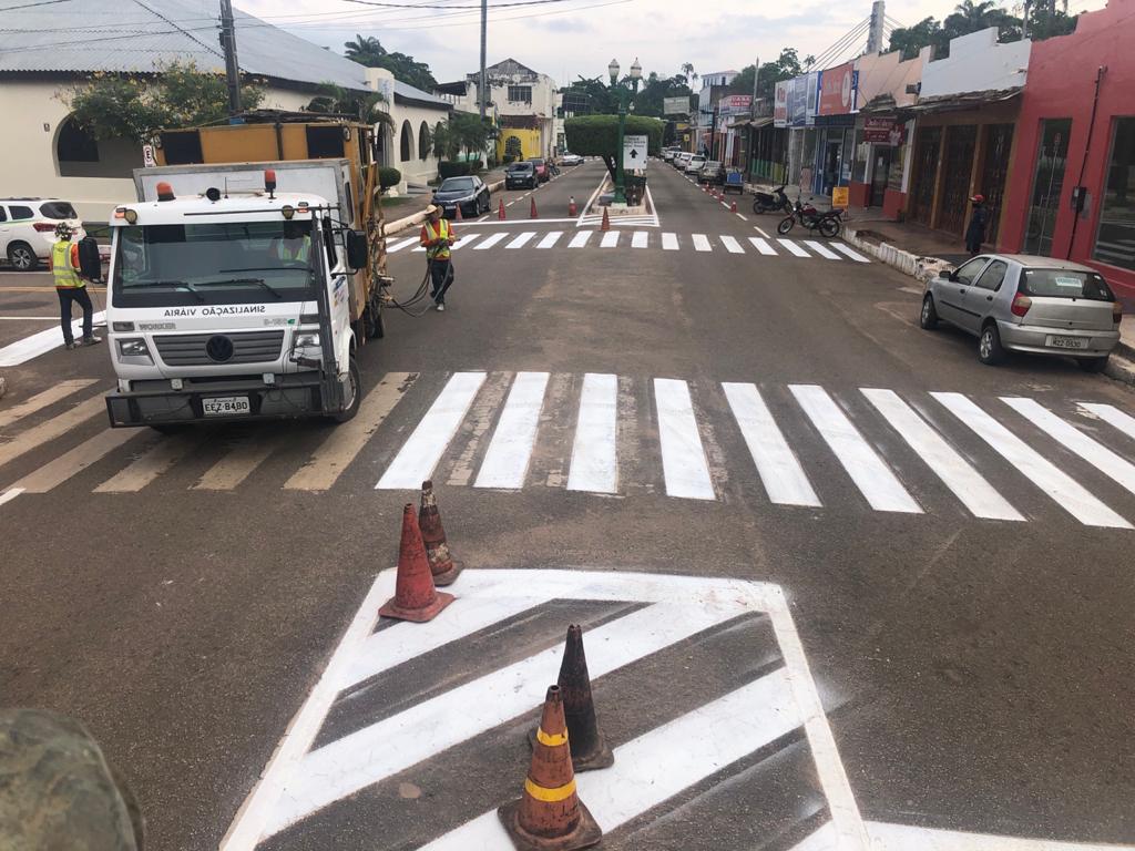 Detran realiza obras de sinalização em diversos municípios