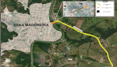 Governo do Acre lança edital para construção da segunda ponte sobre o Rio Iaco, em Sena Madureira