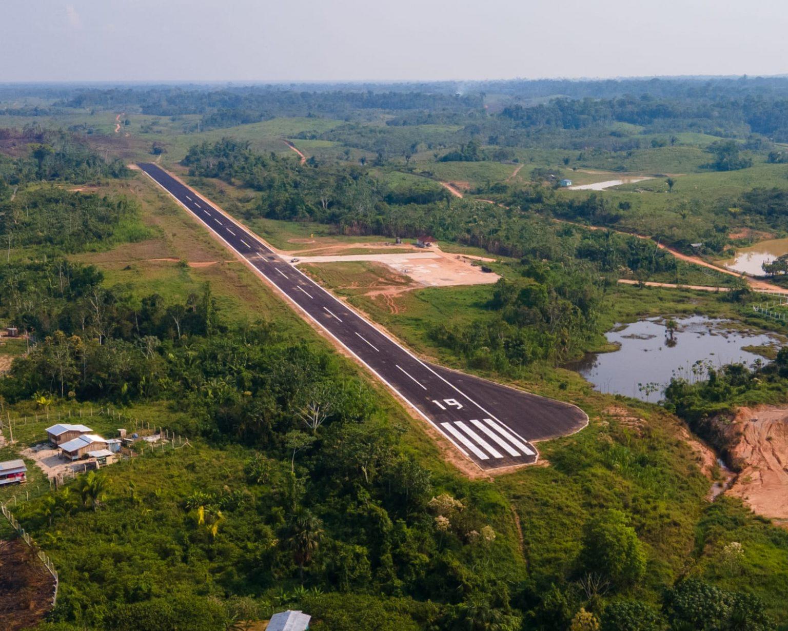 Governo entrega revitalização do Aeródromo de Porto Walter nesta segunda-feira