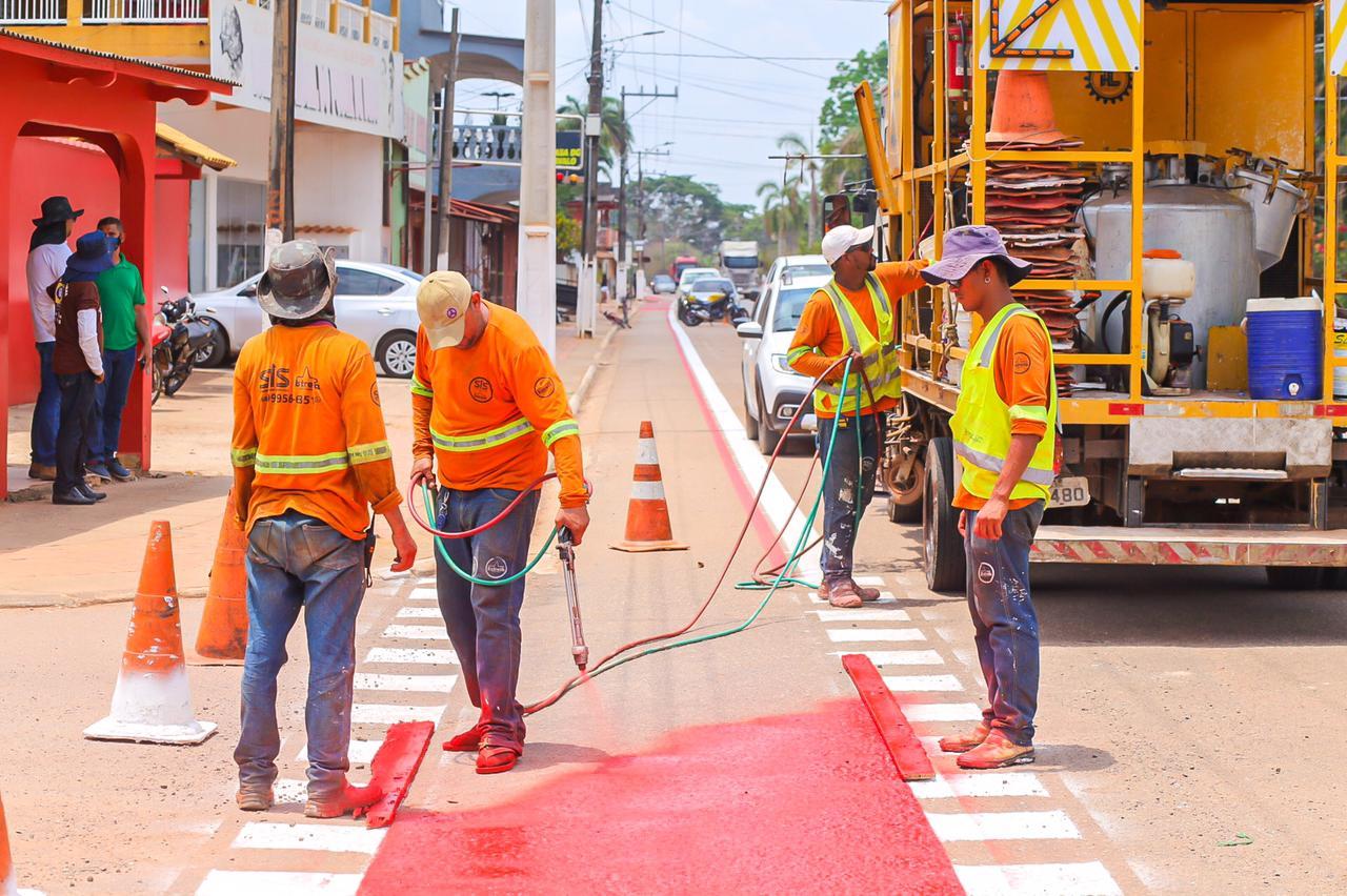 Detran e prefeitura revitalizam sinalização de trânsito em Senador Guiomard